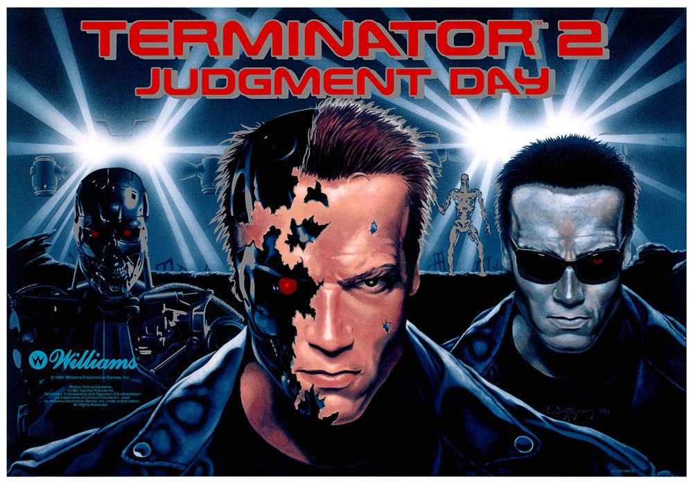 Terminator 2 Pinball Machine Backglass