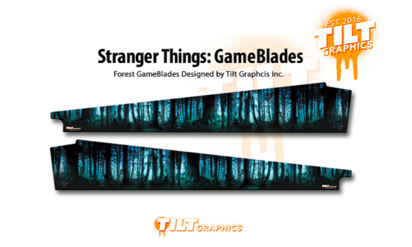 Stranger Things Pinball Forest Sideblades