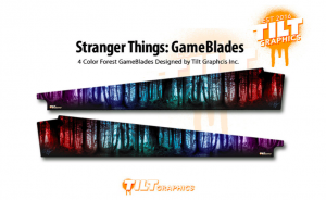Stranger Things Pinball Multicoloured Sideblades