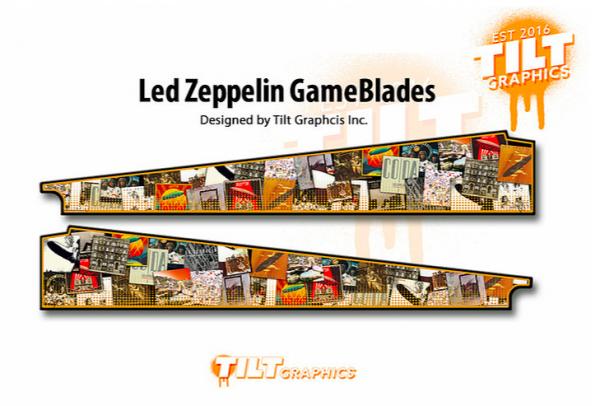LED Zeppeling Artwork Pinball Gameblades